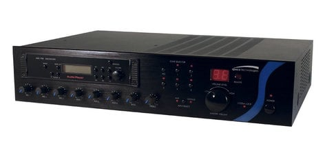 Speco Technologies PBM120AT  120W Power Amplifier with Zoned 25/70V Outputs and Non-Zoned Low Impedance Output PBM120AT