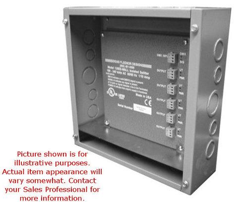 Doug Fleenor Designs 1211-JBOX DMX Isolated Splitter PCB Mounted in J-Box Enclosure 1211-JBOX