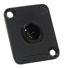 Switchcraft EHT3M  3-pin Male Mini XLR Panel Mount Connector EHT3M