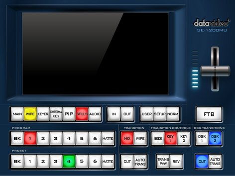Datavideo Corporation SE-1200MU  6 Input Rackmount HD Digital Video Switcher SE-1200MU