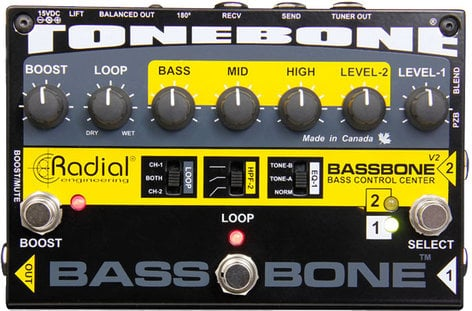 Radial Engineering Bassbone V2 Bass Preamp and DI Box BASSBONE-V2