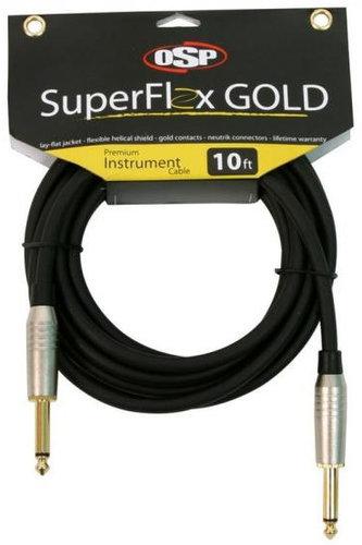 Elite Core Audio SFI-10SS  10 ft SuperFlex GOLD Premium Instrument Cable SFI-10SS