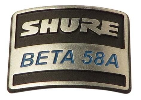 Shure 39E926  Nameplate for B58A 39E926
