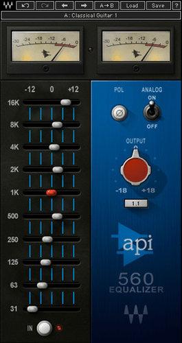 Waves API 560 Vintage Graphic EQ Plugin API560TDM