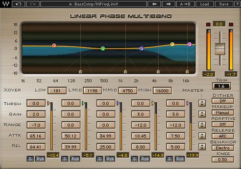 Waves Linear Phase Multiband Compressor 5-Band Mastering Compression Plugin LMBTDM