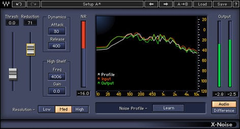 Waves X-Noise Noise Removal Plugin XNTDM