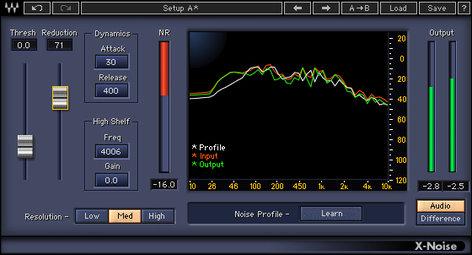 Waves X-Noise Noise Removal Plugin XNTDM