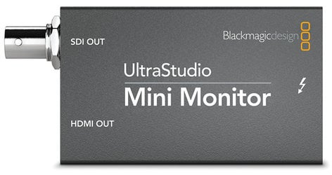 Blackmagic Design UltraStudio Mini Monitor Pocket-Sized Thunderbolt-Powered SDI and HDMI Playback ULTRASTUDIO-MINI-MON