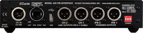 Studio Technologies Model 43D Dante to IFB Interface MODEL-43D