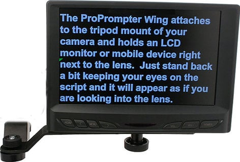 "ProPrompter ProPrompter Wing7 [RESTOCK ITEM] Wing LCD Prompter Kit (with 7"" VGA LCD Flat Screen Monitor) PP-WING-LCD7K-RST-01"