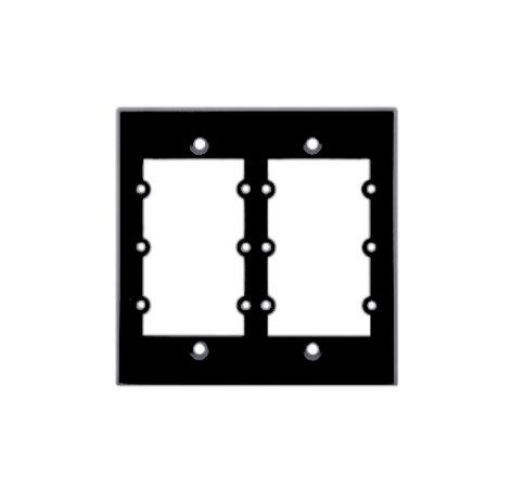 Kramer FRAME-2G-BLACK 2 Gang Frame for Wall Plate Inserts in Black FRAME-2G-BLACK