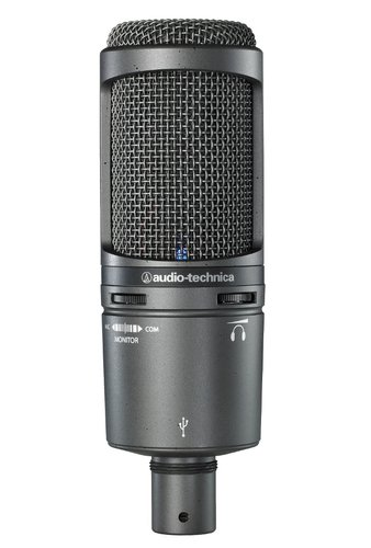 Audio-Technica AT2020USB+ USB Microphone, with Phone Jack/Volume Control AT2020-USB+