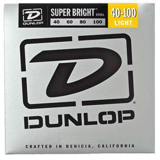 Dunlop Manufacturing Super Bright Steel Bass Strings 4-String Light Gauge Set - 40-100 DBSBS40100
