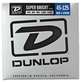 Dunlop Manufacturing Super Bright Steel Bass Strings 5-String Medium Gauge Set - 45-125 DBSBS45125