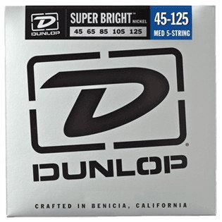 Dunlop Manufacturing Super Bright Nickel Wound Bass Strings 5-String Medium Gauge Set - 45-125 DBSBN45125