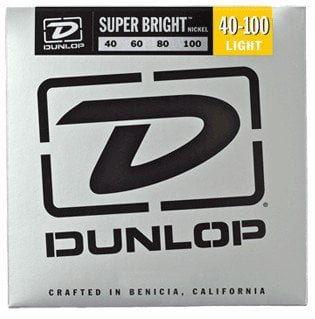 Dunlop Manufacturing Super Bright Nickel Wound Bass Strings 4-String Light Gauge Set - 40-100 DBSBN40100