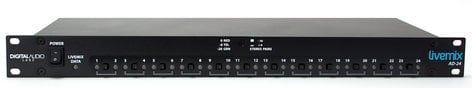 Livemix AD-24  Rackmount Analog Input Unit for Livemix Personal Monitoring System AD-24