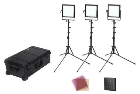 Rosco Laboratories LitePad Vector Kit 3-Head LitePad Vector CCT Location Lighting Kit 292030808120