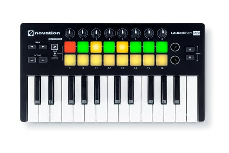 Novation Launchkey Mini MK2 25-Key Mini Keyboard Controller with 16 Velocity-Sensitive Trigger Pads LAUNCHKEY-MINI-MK2