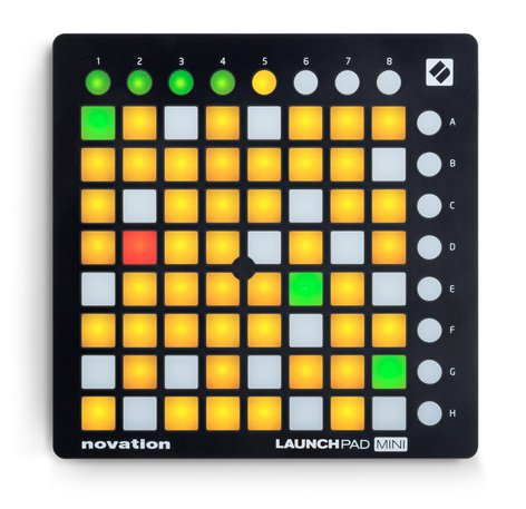 Novation Launchpad Mini MK2 Mini Grid Controller with 64 Trigger Pads for Ableton Live LAUNCHPAD-MINI-MK2