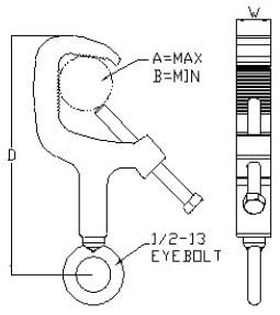 Allen Products/Adaptive Technologies MC-020-BT Truss Clamp with Hex Bolt MC-020