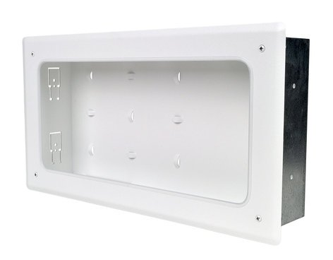 "FSR, Inc PWB-353 WHT 3"" Deep Open-Face Wall Box in White PWB-353-WHT"