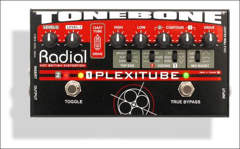 Radial Engineering Plexitube Tonebone Tube Distortion Pedal PLEXITUBE