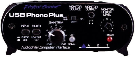 ART USB PhonoPlusPS Project Series USB 2.0 Audio Interface USBPHONOPLUSPS