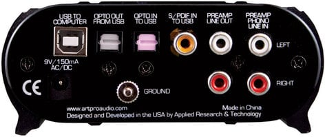 ART USB PhonoPlusPS Project Series USB 2.0 Audio Interface USBPHONOPLUSPS