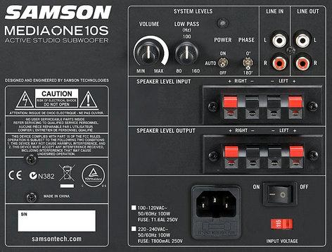 "Samson SAM10S MediaOne 10S 10"" 100W Active Studio Subwoofer SAM10S"