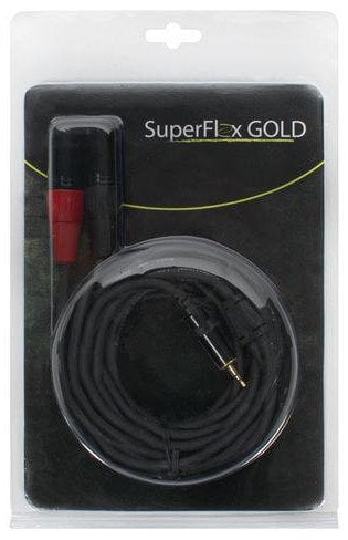 Elite Core Audio SFP-Y15XM3.5MM  15 ft SuperFlex GOLD 2x XLR-M to 3.5mm Stereo Male Patch Cable SFP-Y15XM3.5MM