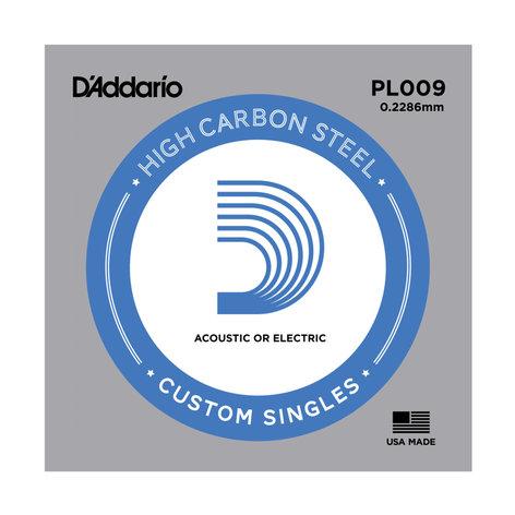 D`Addario PL009-5  5 Pack of .009 Gauge Single Plain Steel Guitar Strings PL009-5