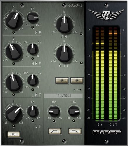 McDSP 4020 Retro EQ Native 4-Band Retro EQ Plugin, AAX Native/AU/VST Version 4020-RETRO-EQ-NA