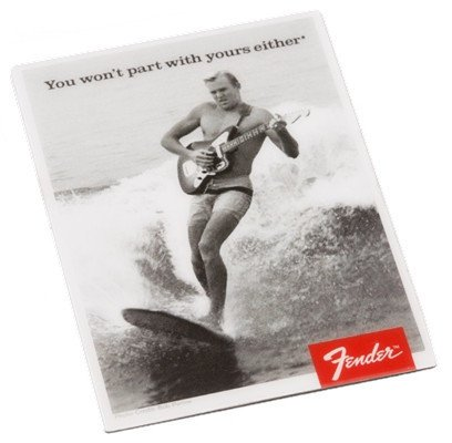 """Fender 910-0248-000 """"You Won't Part With Yours Either"""" Surfer Magnet 910-0248-000"""