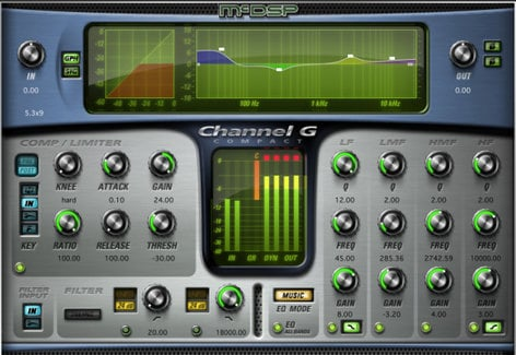 McDSP Channel G Compact Native Multi-Function Channel Strip Plugin, AAX Native/AU/VST Version CHANNEL-G-COMPACT-NA