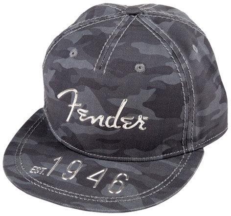 Fender 910-6633-406 Camo Flat Brim Hat with Hi-Def Logo - One Size Fits All 910-6633-406