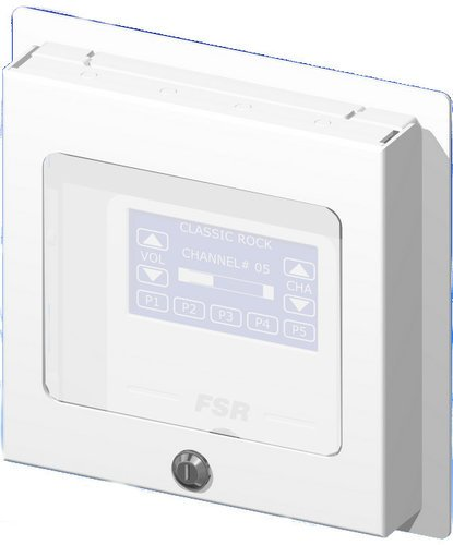 FSR, Inc WB-PS2G  2-Gang Surface Mount Wall Plate with Locking Cover with Window WB-PS2G