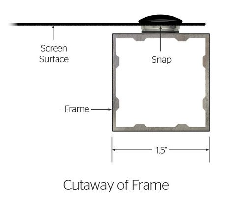 "Da-Lite 95555V Da-Snap 49"" x 87"" Screen with Da-Mat Screen Surface 95555V"