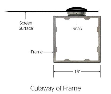 """Da-Lite 95555V Da-Snap 49"""" x 87"""" Screen with Da-Mat Screen Surface 95555V"""
