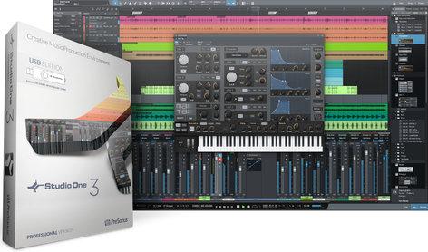 PreSonus Studio One 3 Professional Advanced Digital Audio Workstation - USB Installer, Box & Key Card S1-3-PRO-USB