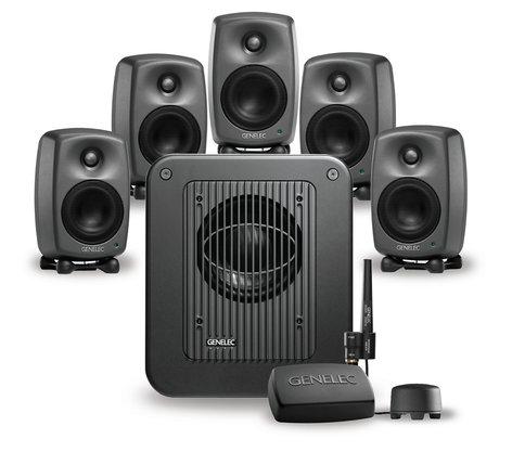 "Genelec 8320 LSE Surround SAM Five 4"" 2-Way 100W Smart Active Studio Monitors with 7350A Monitoring Subwoofer 8320-SAM-SURROUND"