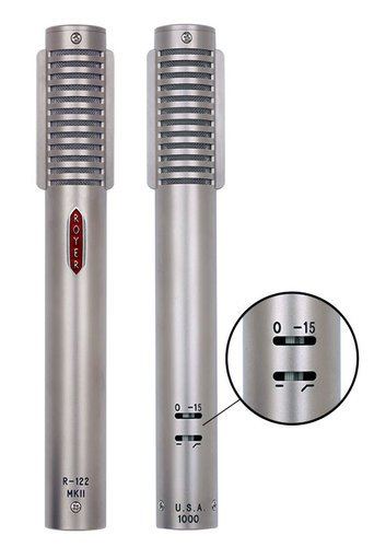 Royer Labs R-122 MKII Live Matched Pair of Active Ribbon Microphones, Dull Nickel Finish R122-MKII-LIVE-MP