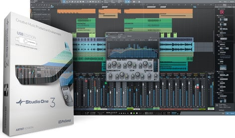 PreSonus Studio One 3 Artist Advanced Digital Audio Workstation - USB Installer, Box & Key Card S1-3-ARTIST-USB