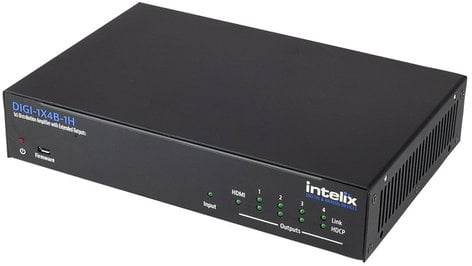 Intelix DIGI-1X4B-1H  1x4 HDMI to HDBaseT Distribution Amplifier DIGI-1X4B-1H