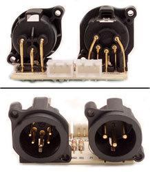Elation Pro Lighting DLXSSBA63003 XLR Male PCB for ELED QW Strip DLXSSBA63003