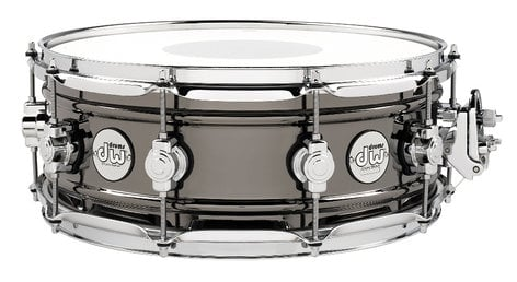 "DW Design Series 5.5""x14"" Brass Snare Drum with Black Nickel Finish DDSD5514BNCR"