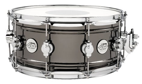 "DW Design Series 6.5""x14"" Brass Snare Drum with Black Nickel Finish DDSD6514BNCR"