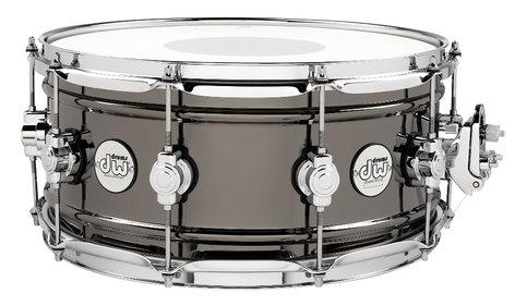 "DW Design Series 6.5""x14"" Brass Snare Drum with Black Nickel Finish DDSD6514BNCR"