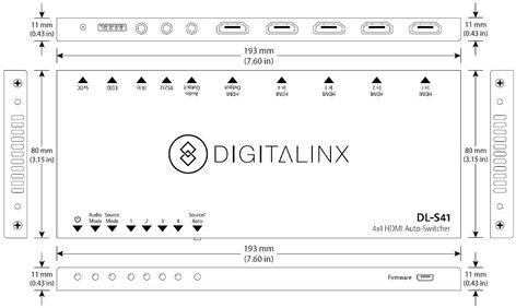 Intelix DL-S41  Digitalinx 4x1 HDMI Auto-Switcher DL-S41