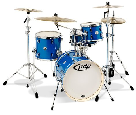 Pacific Drums PDNY1804SS New Yorker 4-Piece Shell Pack with Sapphire Sparkle Finish PDNY1804SS